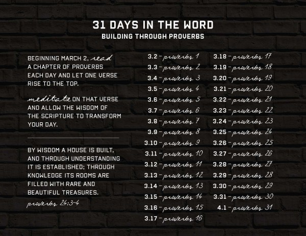 31 Days In The Word